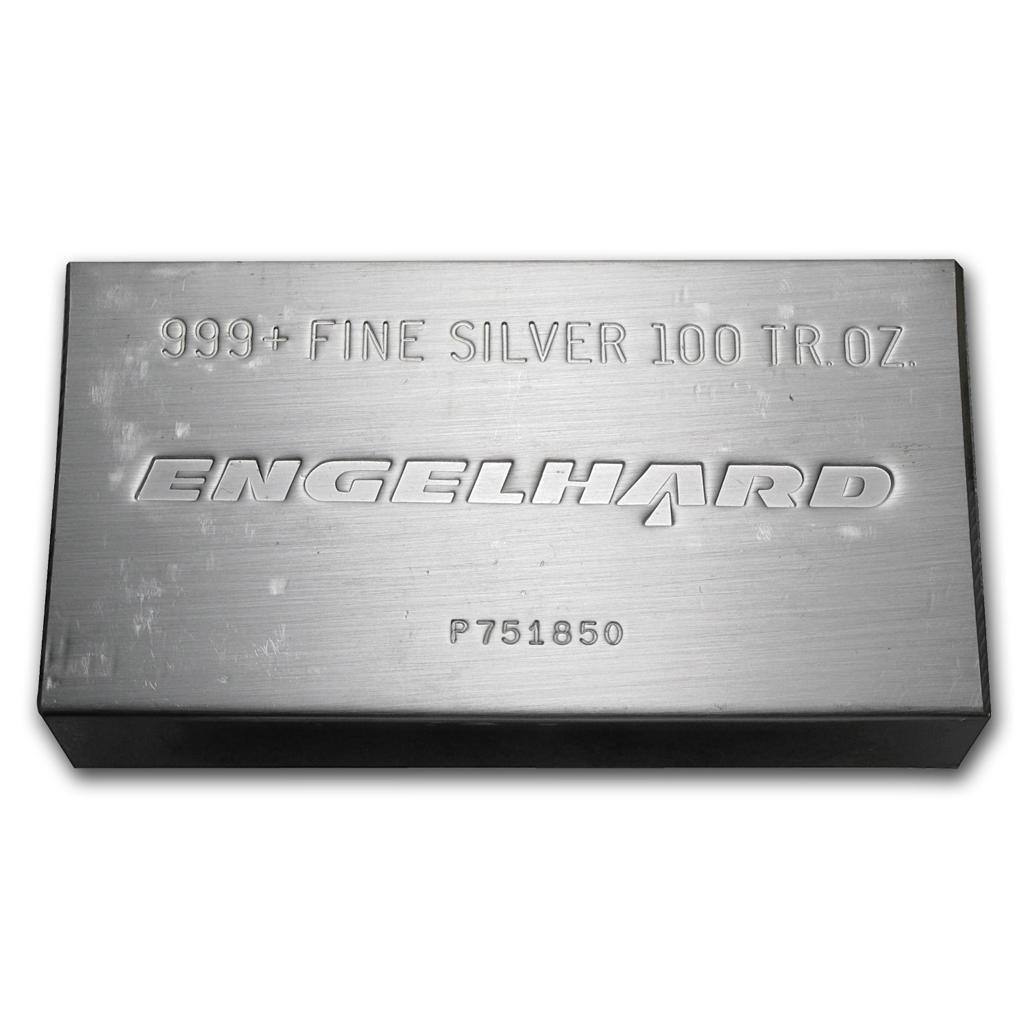 100 oz Silver Bar - Engelhard (Struck, Triangle)